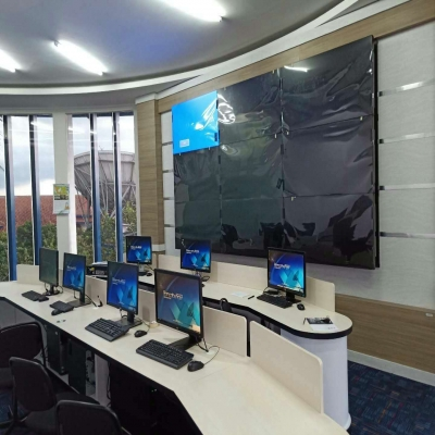 Satellite technology and research centre ( LCD Video wall solution)